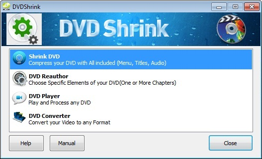 dvd shrink new graphic interface